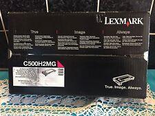 Lexmark MAGENTA C500H2MG High Yield INK Toner Cartridge -