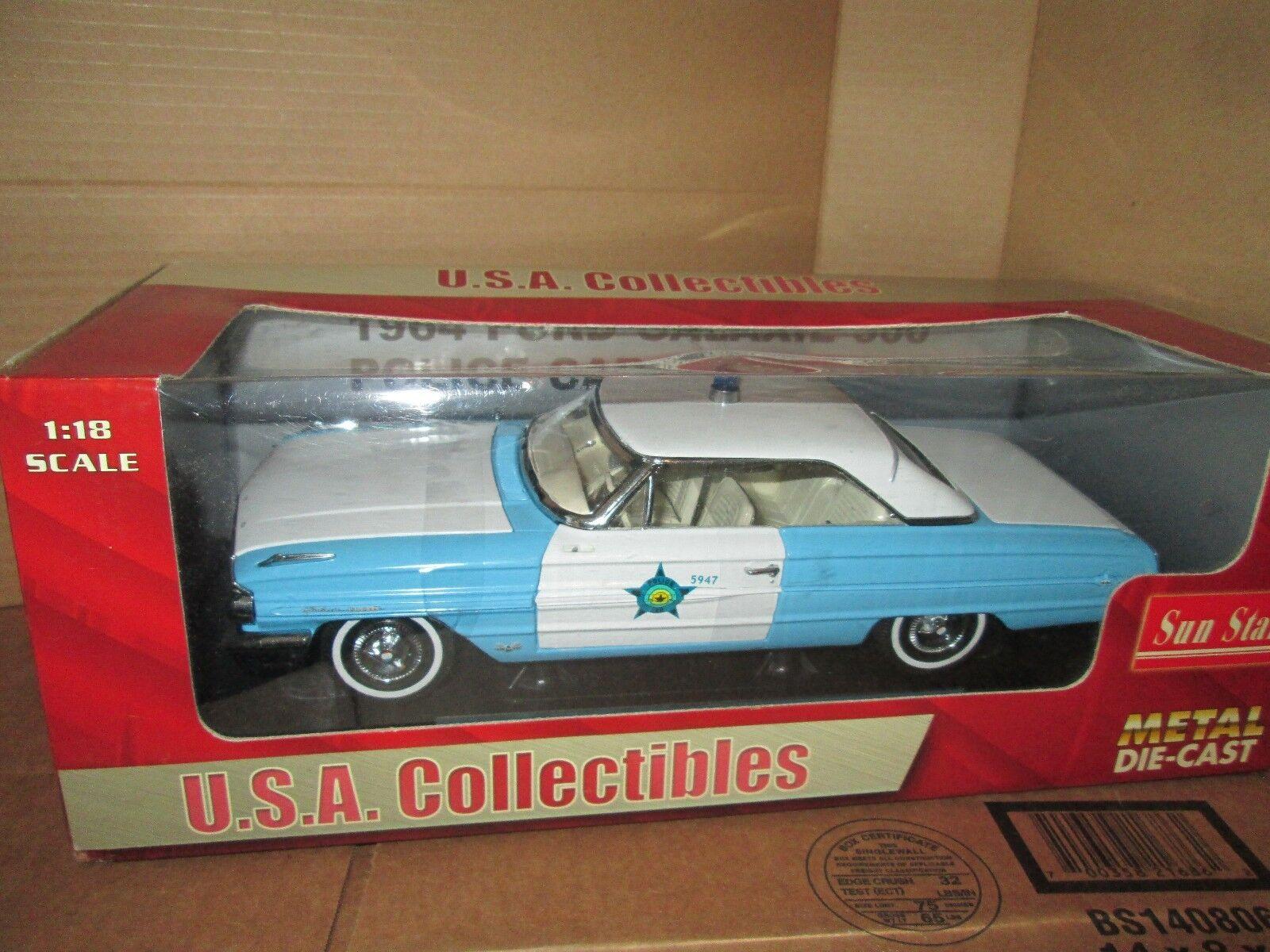 64 FORD GALAXIE 500 police car  1 18 1964 sunstar 1 18