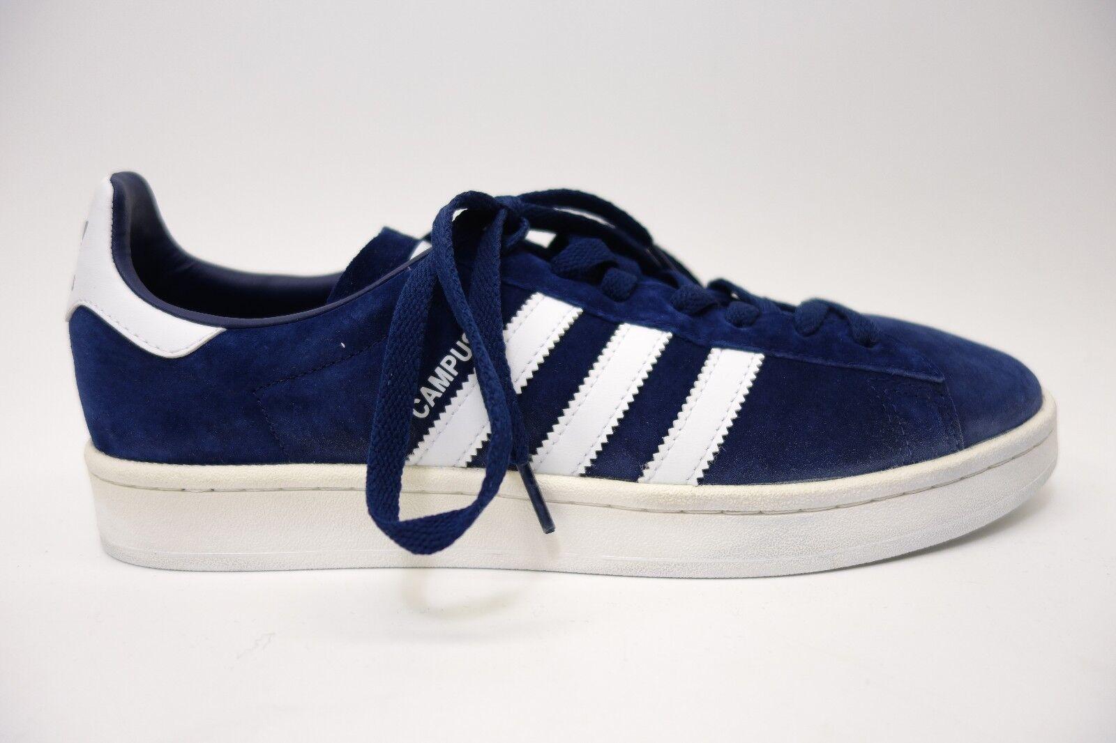 Neue adidas - mens dunkelblau und weiß campus wildleder größe lace up sneaker schuhe größe wildleder 9,5 502a65