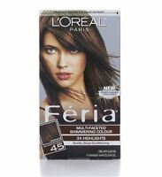 L'oreal Feria Permanent Haircolor Gel - 45 Deep Bronzed Brown 1 Each (6 Pack) on sale