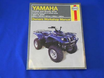Haynes Yamaha Kodiak And Grizzly ATVs Ownders Workshop Manual 2567 EBay