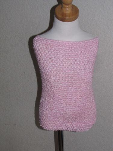 "14/"" 13/"" 12/"" long x 9/"" wide XL Crochet Tutu Top tube size 6-16 yrs NEW Girls JR"