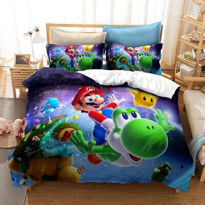 Super Mario Yoshi Bedding Set Duvet, Mario Bed Sheets Queen
