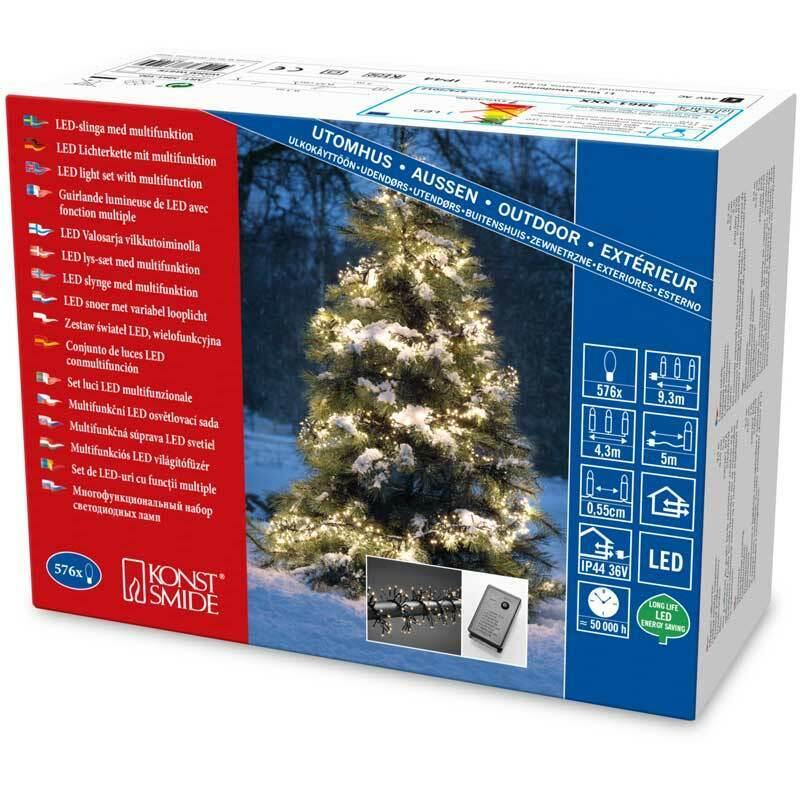 Konstsmide Micro LED Büschellichterkette Cluster  für Außen 576 warm weiße Diod