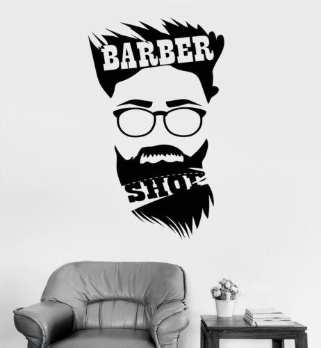 Vinyl Wall Decal Barber Shop Hair Salon Hairtician Hairdresser Stickers ig3707