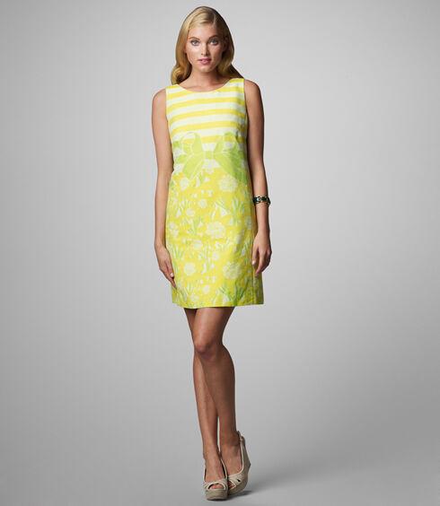 278 Lilly Pulitzer Stephanie Shift Engineere Dress-Commodore Yellow Gotcha XS 4 a2c513