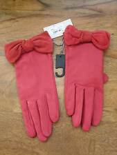 JOHN LEWIS LADIES LEATHER GLOVES PINK BNWT LOVELY rrp £39 WEDDING