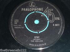 "VINYL 7"" SINGLE - THE HOLLIES - STAY - R 5077"