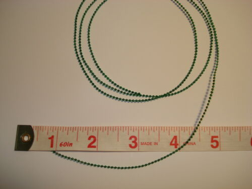 Miniature Christmas Tree Trimming 2 Yards Micro 2mm Green  Beads Garland