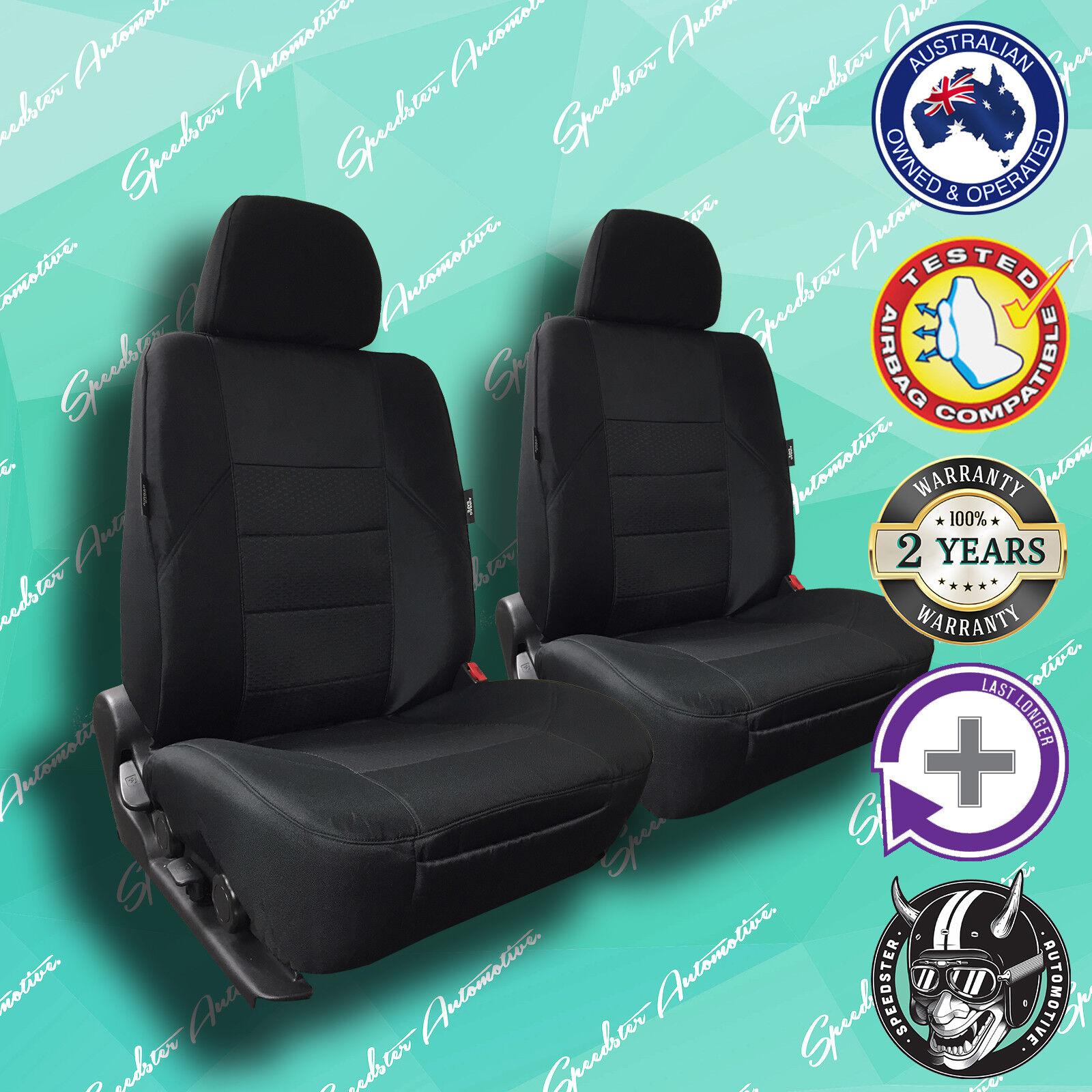 HIGH QUALITY ELEGANT JACQUARD MITSUBISHI CHALLENGER BLACK FRONT CAR SEAT COVERS