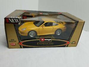 Porsche-1999-911-GT3-Strasse-Bburago-oro-Collecton-1-18-Escala-Die-Cast-Burago