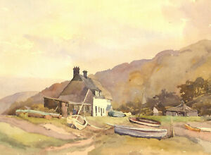 Mid-20th-Century-Watercolour-The-Fisherman-039-s-Cottage