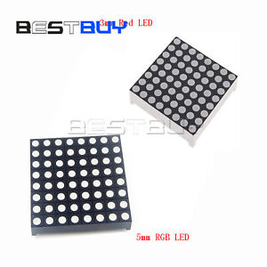 3mm 5mm 8*8 RED// Colour RGB LED Dot Matrix Display Module Common Anode