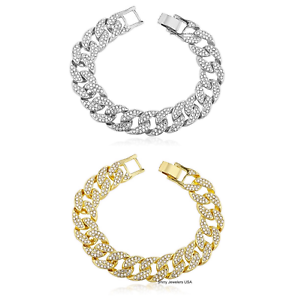 Image Is Loading Mens Iced Out 15mm Cz Miami Cuban Link
