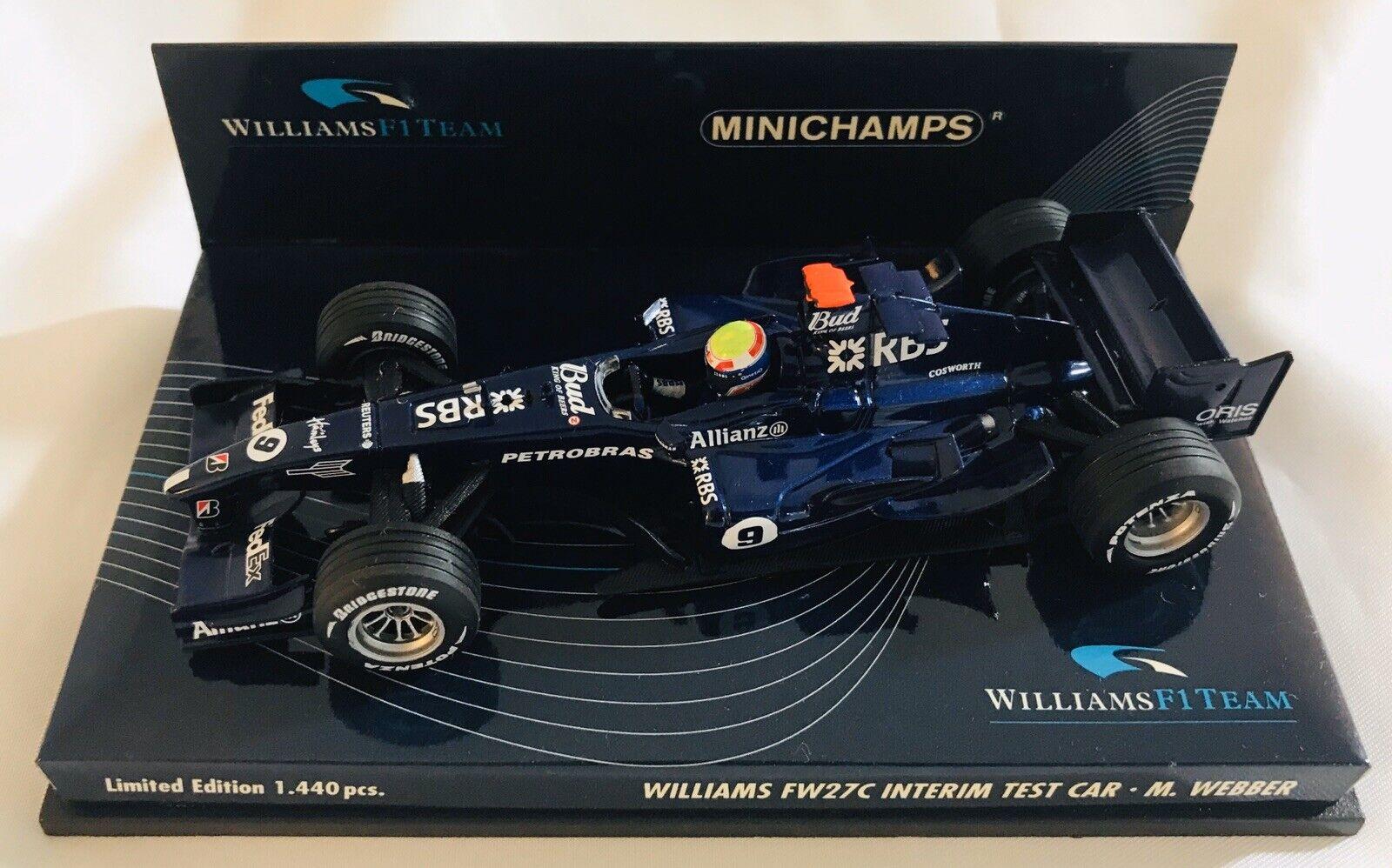 Minichamps F1 1 43 Williams FW27C Interim Test Car 2005 - m.Webber 400050109