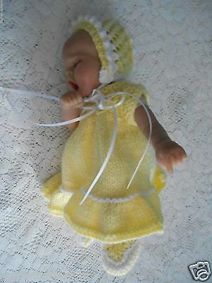 "Doll Clothes Yellow dress Handcrafted  fit Kewpie Cameo, Asthon Drake 10"" 12in."