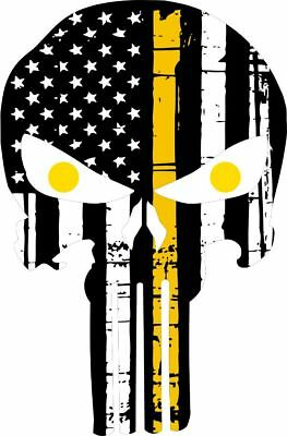 Thin Yellow Line Tow Eyes Products Punisher Tattered Flag