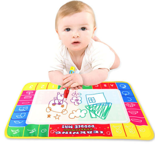Water Drawing Painting Writing Mat Board Magic Pen Doodle Gift 29X19cm For Child