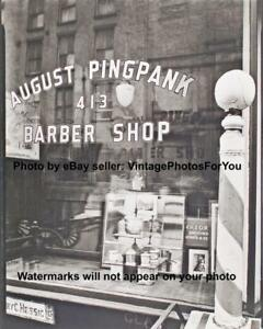 Old-Antique-New-York-City-NYC-Barber-Shop-Barber-Pole-Razor-Depression-Era-Photo
