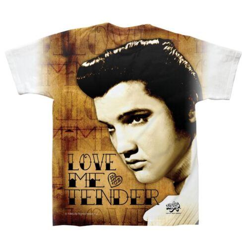 Officiel homme elvis love me tender le roi musique icône t-shirt