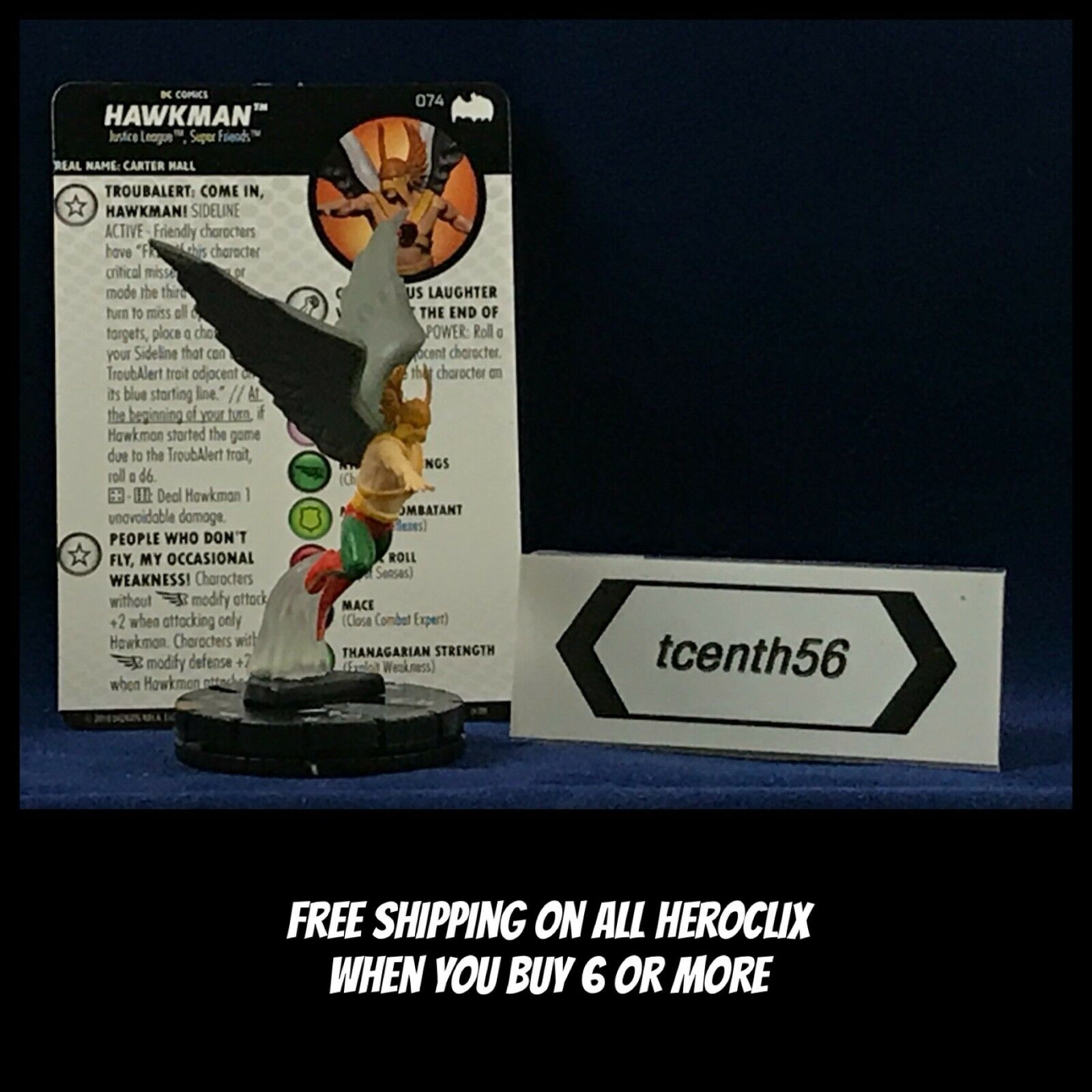 WizKids DC Heroclix Batman The Animated Series 074 Hawkman  Chase