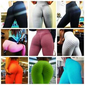 Women Butt Lift Yoga Leggings Anti Cellulite Pants Trouser Push Up