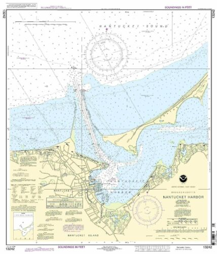 NOAA Chart Nantucket Harbor 18th Edition 13242