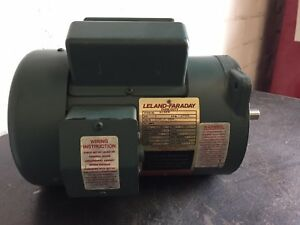 1 hp leland faraday auger motor, cat no m439, 1725 rpm, tefc, 56 GMC Fuse Box Diagrams image is loading 1 hp leland faraday auger motor cat no