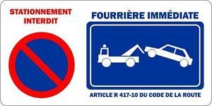 autocollant sticker portail garage stationnement interdit. Black Bedroom Furniture Sets. Home Design Ideas