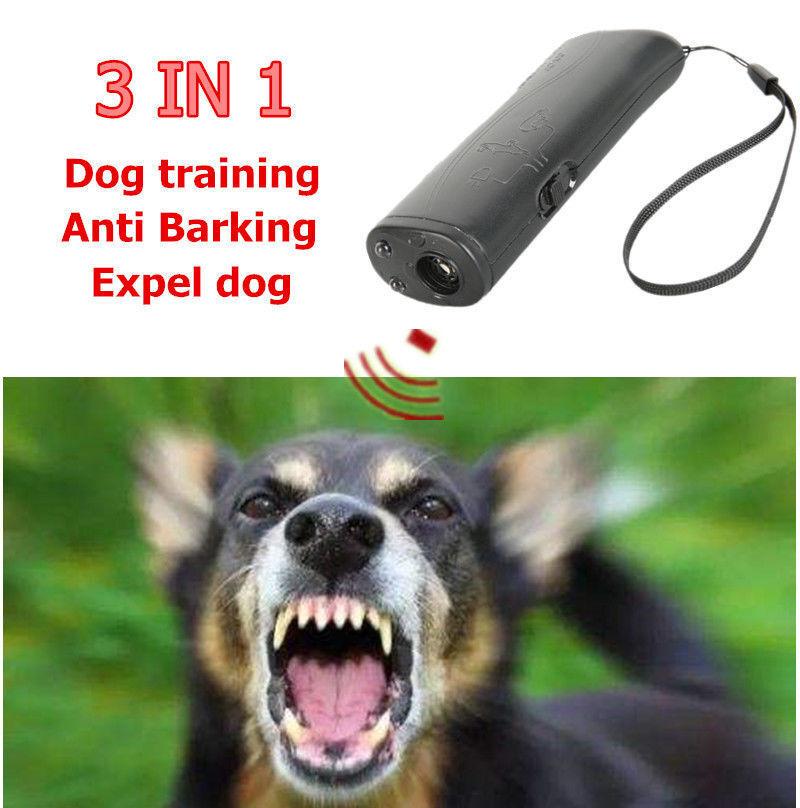 2019 Repellents 3 In 1 Ultrasonic Anti Bark Stop Barking Dog Led