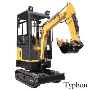 New Typhon Thunder XII 1.2 Ton Mini Excavator Digger Bagger Tracked Crawler