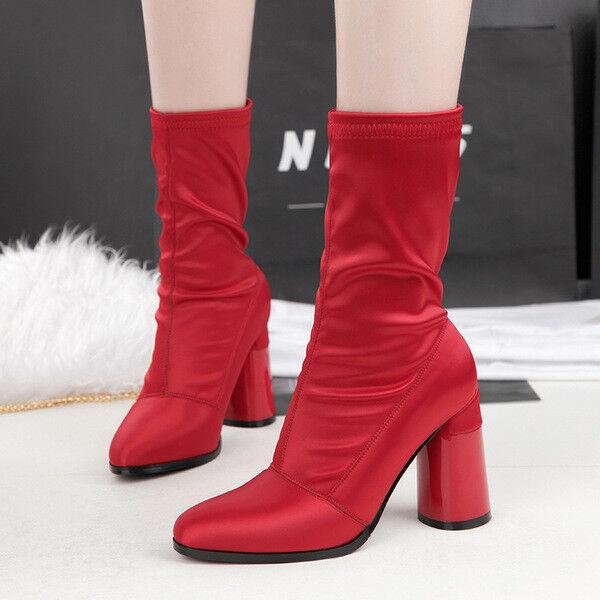 botas stivaletti bassi zapatos caviglia rojo 10 cm pelle sintetica 9673