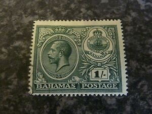 BAHAMAS POSTAGE STAMP SG110 1/- DEEP MYRTLE GREEN VERY FINE USED