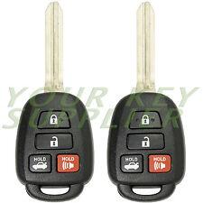 2 New Uncut 2012 2013 2014 Toyota Camry Keyless Remote Head Key Fob for HYQ12BDM