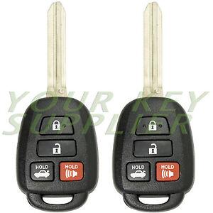 2 new uncut keyless remote head key fob for 2012 2013 2014 toyota