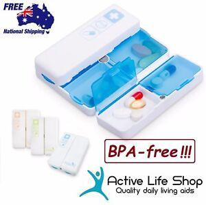 Pill-Box-MAGNETIC-Organiser-Medication-Storage-Portable-Travel-PBA-free-PREMIUM