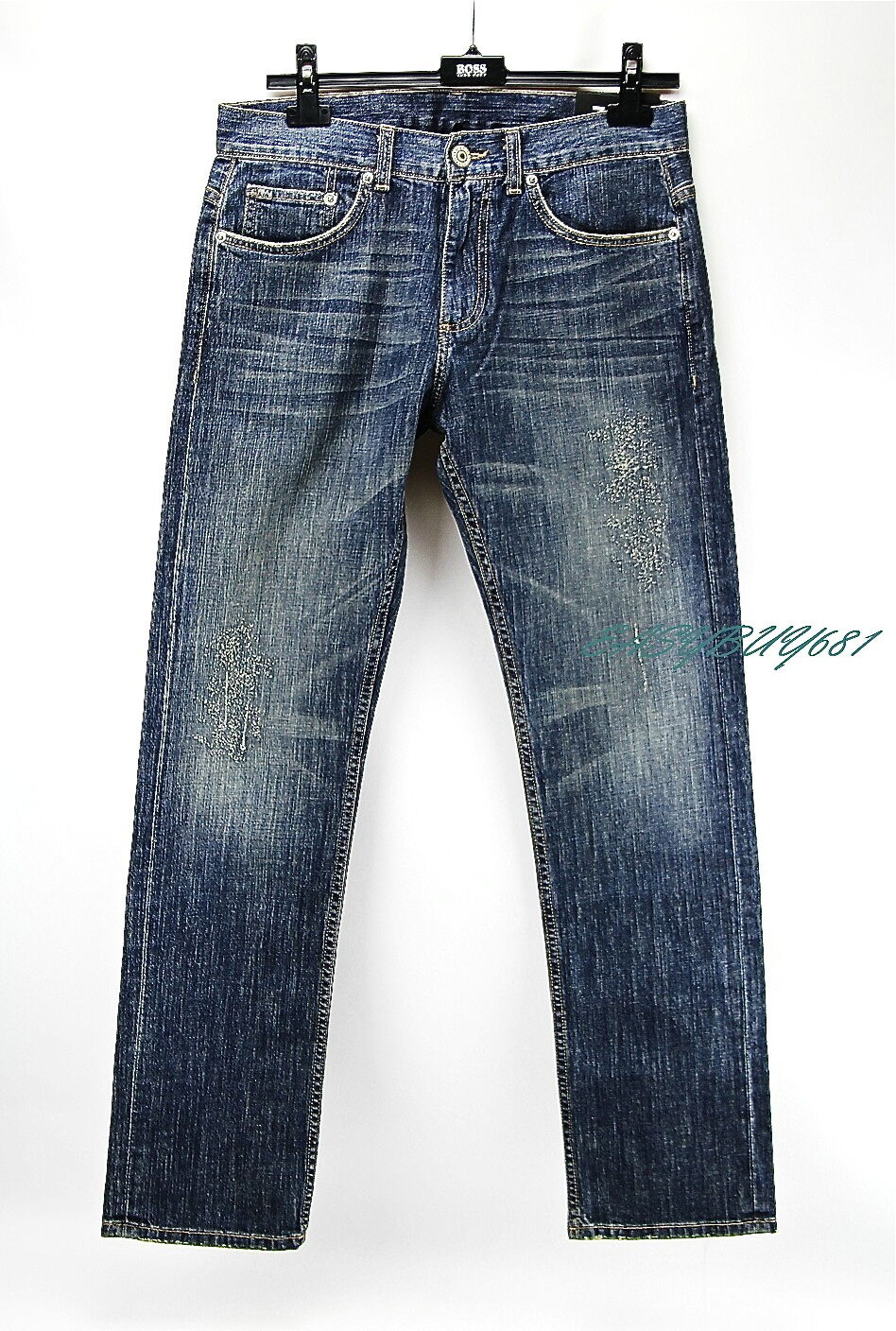 A X ARMANI EXCHANGE J66 Distressed JEANS STRAIGHT 100% Cotton, Made in USA