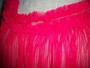 ORIGINAL-60er-Jahre-Neglige-rot-durchsichtig-Perlon