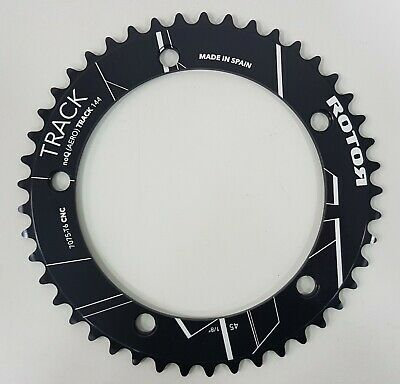 """Aero 45T-56T Track BCD144x5 1//8"""" Outer Round Chainring Black Rotor NoQ"""