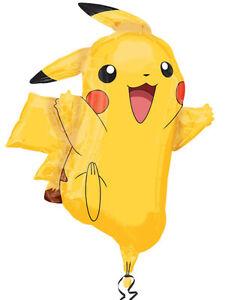 Pokemon-Pikachu-Decoracion-Fiesta-De-Cumpleanos-Foil-Balloon-31-034-Giant-Supershape