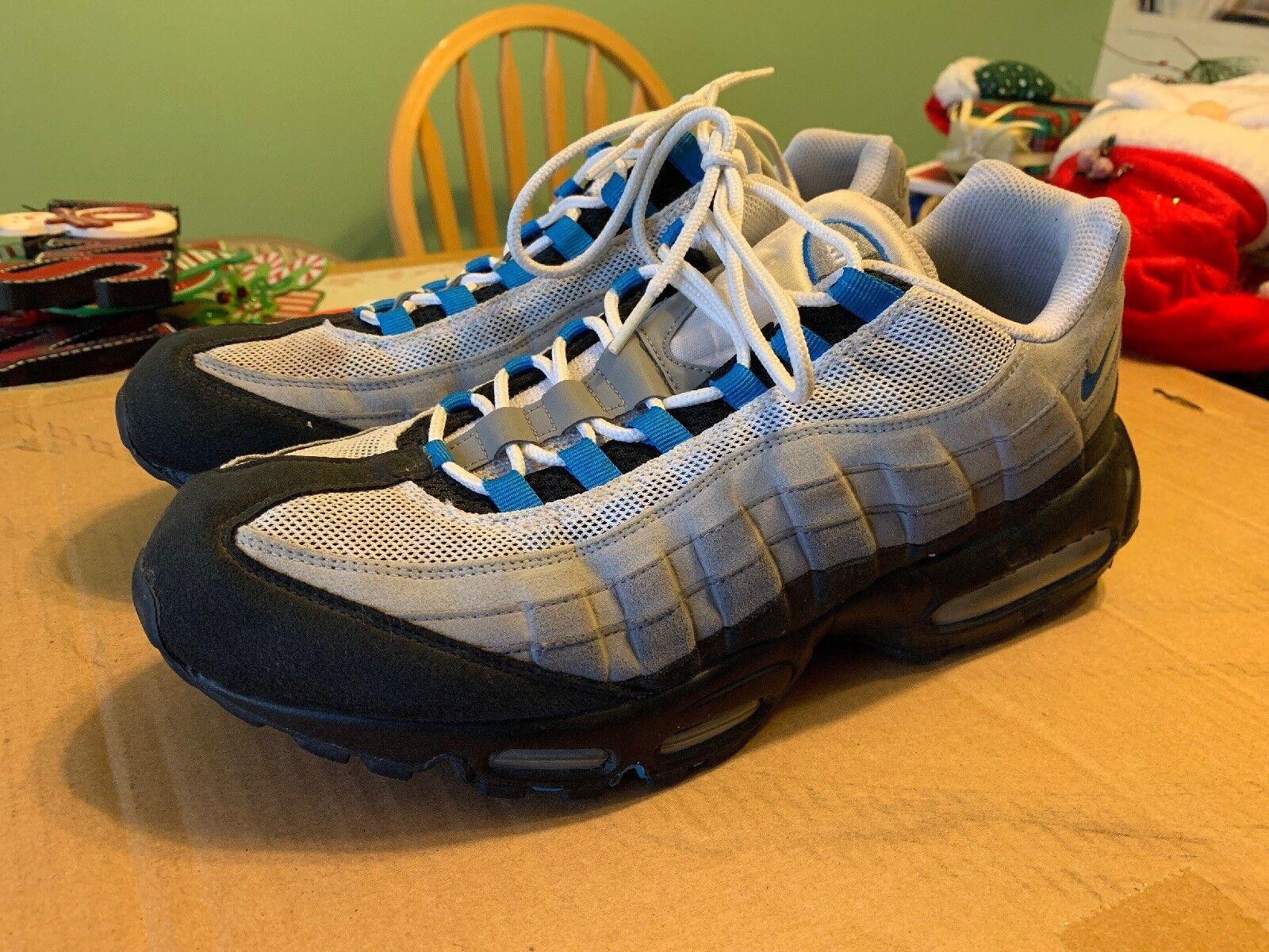 Nike Air Max 95 Cool Grey Photo bluee Black Black Black White Mens Size 13 609048-034 2010 63f375