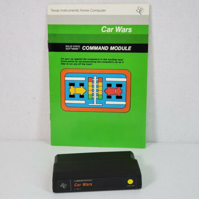 Texas Instruments Ti-99/4a Car Wars Game Cartridge PHM 3054 for sale online  | eBay