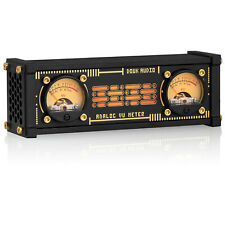 Vintage Dual Analog Vu Meter Db Panel Amplifier Speaker Sound Level Indicator