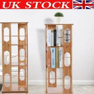 Astounding Details About Bamboo 3600 Rotating Corner Shelf Bookcase Cabinet Storage Rack Bookshelf Unit Download Free Architecture Designs Rallybritishbridgeorg