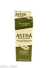 200 Astra Superior Platinum Double Edge Razor Blades