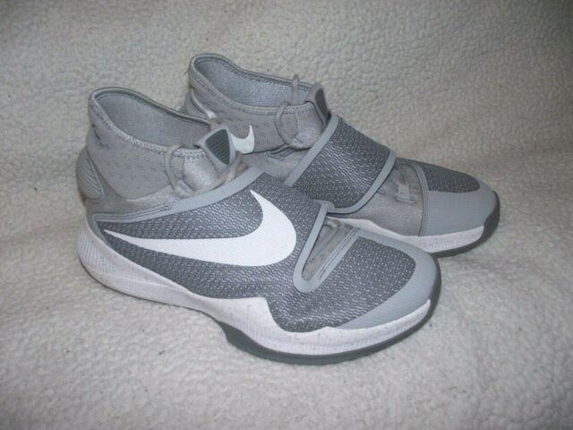 hot sale online e4e42 55880 Nike Zoom Hyperrev Mens 11.5 Wolf Grey/White Basketball Shoes 820224-014 EUC