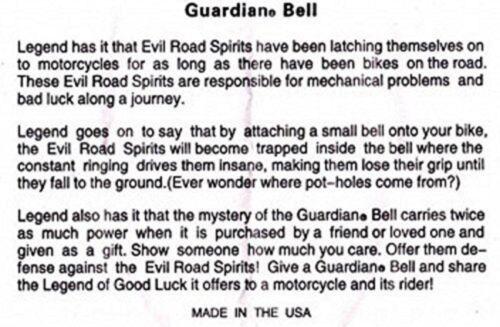 SPARTAN HELMET GUARDIAN BELL COMPLETE MOTORCYCLE KIT W// HANGER /& WRISTBAND