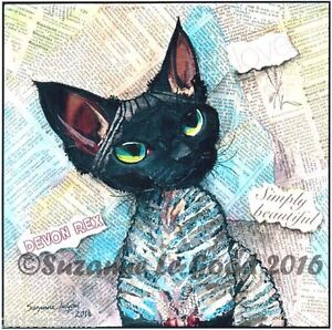 LARGE-LTD-ED-DEVON-REX-CAT-COLLAGE-PRINT-FROM-ORIGINAL-PAINTING-SUZANNE-LE-GOOD