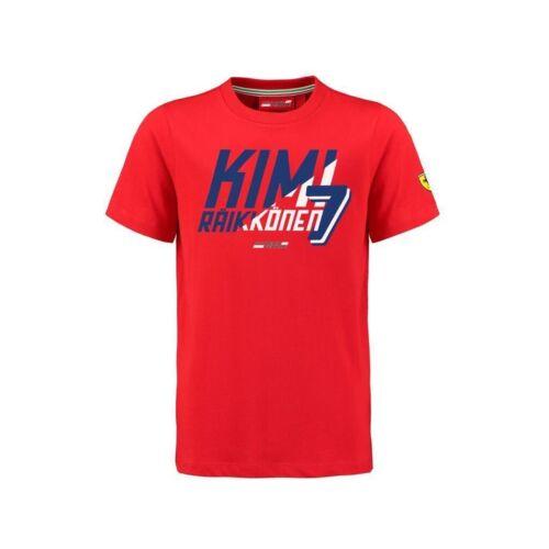 T-shirt Bambini Formula One 1 SCUDERIA FERRARI F1 Team Raikkonen Bambini Nuovo!
