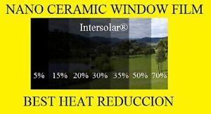 "Window Film 70/%  Nano Ceramic Tint  Residential Auto 60/""x15/' 2ply Intersolar® us"